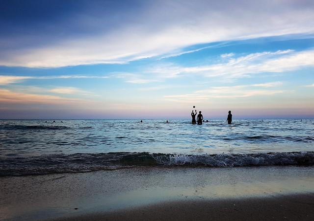 beach-sunset-sea-water-ocean picture material