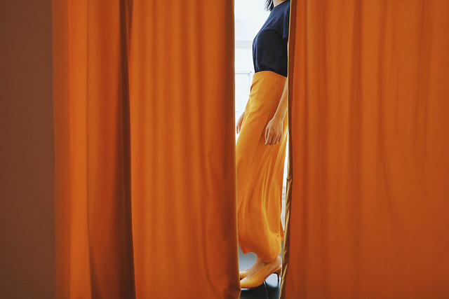 curtain-people-one-wear-adult picture material
