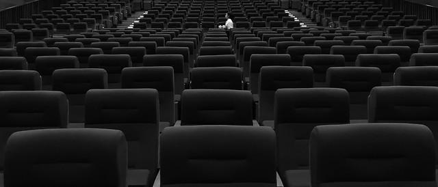 auditorium-theatre-building-black-and-white-street picture material