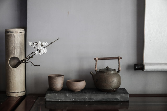 still-life-interior-design-tea-bad-chinese-style-teapot picture material