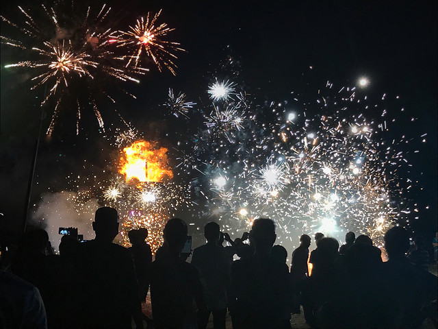 fireworks-festival-crowd-celebration-party picture material