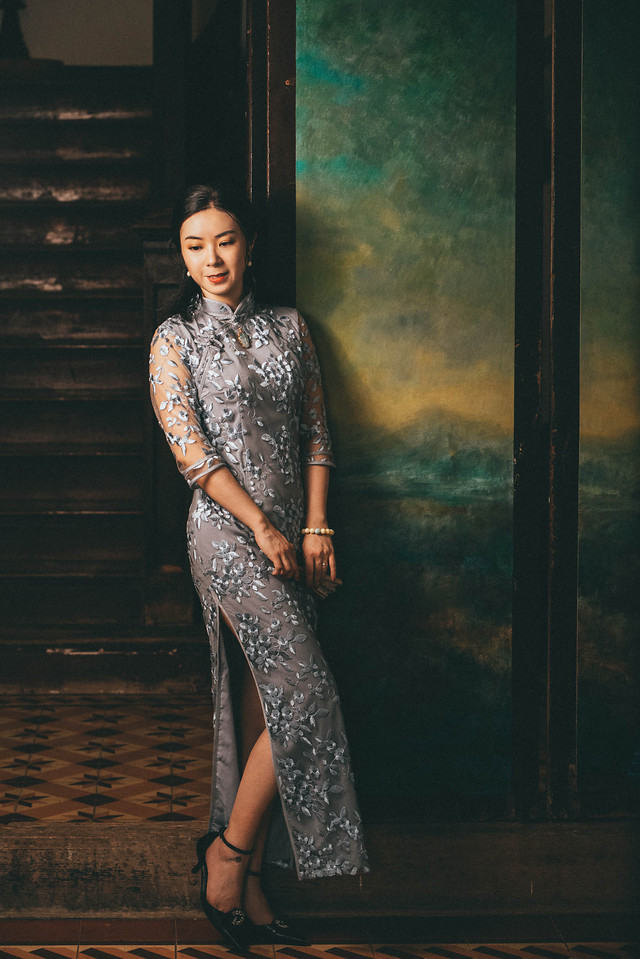 fashion-model-girl-cheongsam-celebrity-style picture material