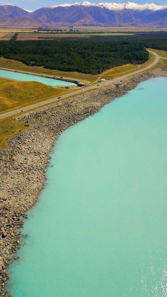 water-reservoir-sky-river-landscape picture material