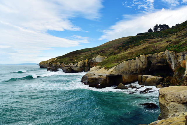 sea-water-ocean-cliff-sky picture material
