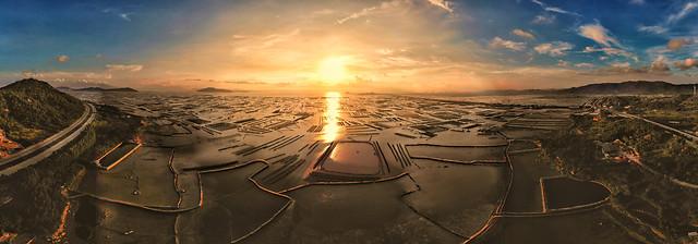 sky-sunset-sun-evening-landscape picture material