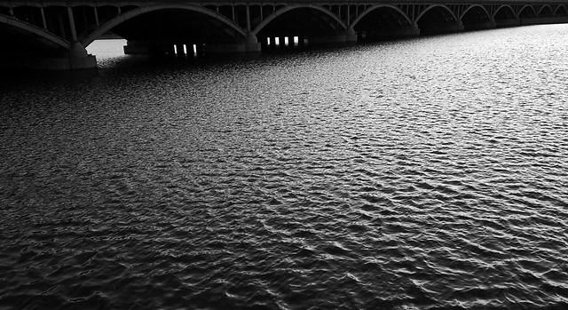 water-river-no-person-bridge-reflection picture material