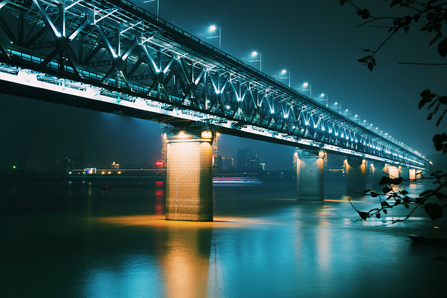 bridge-travel-water-city-river picture material