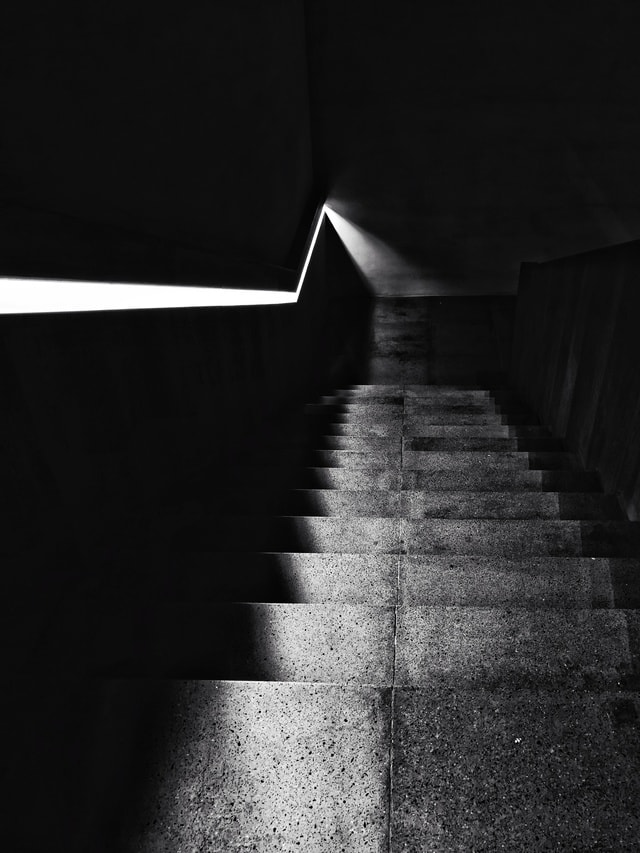 black-and-white-light-architecture-monochrome-shadow picture material