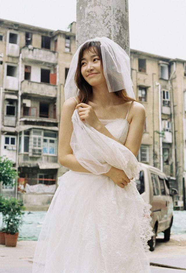 bride-dress-veil-girl-wedding picture material