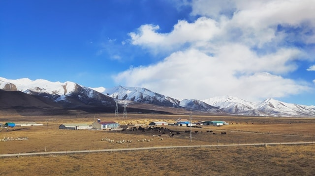 qilian-mountain picture material