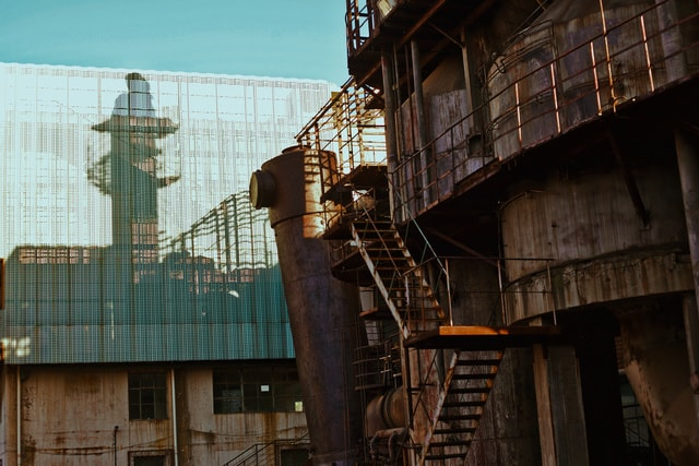 building-architecture-iron-industry-construction picture material