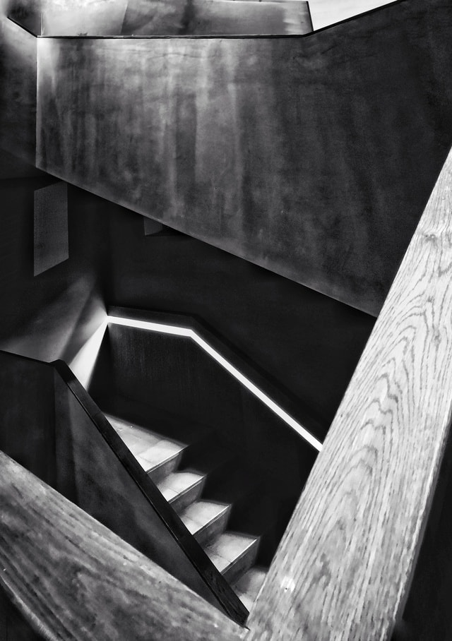 architecture-monochrome-wood-shadow-light-and-shadow picture material