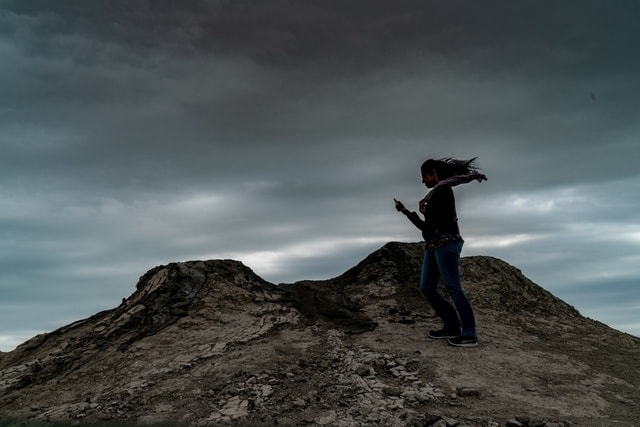 sky-mountain-rock-landscape-climber picture material
