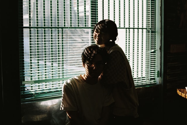 window-light-interaction-film-people picture material