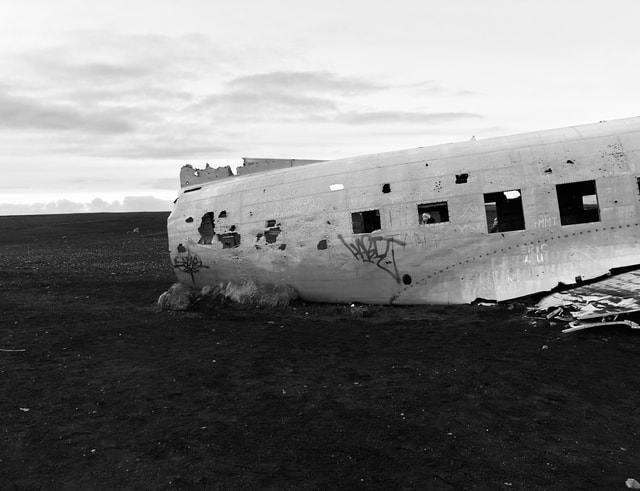 airplane-aircraft-black-and-white-iceland-military picture material
