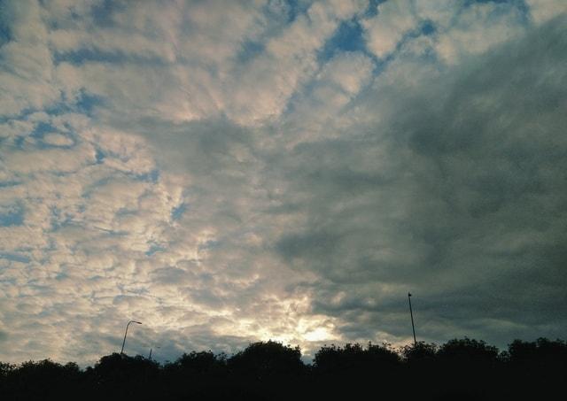 sky-cloud-evening-sunset-landscape 图片素材