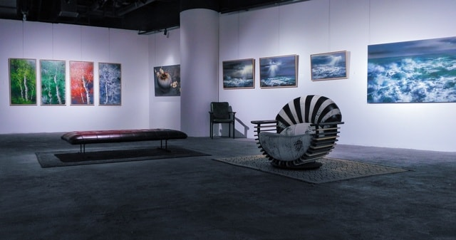 exhibition-furniture-museum-table-room picture material