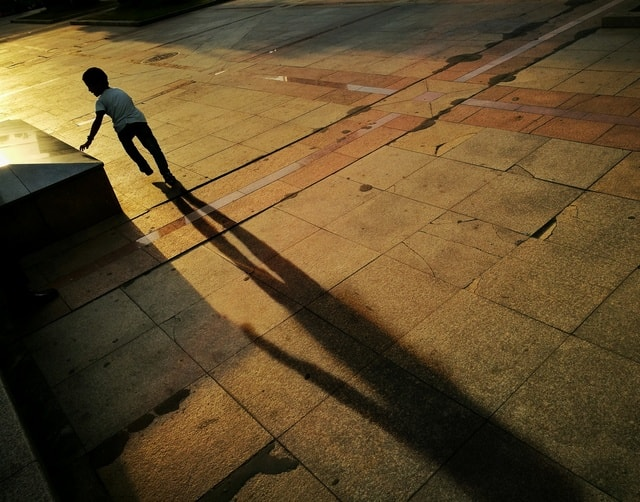 shadow-floor-light-people-street picture material