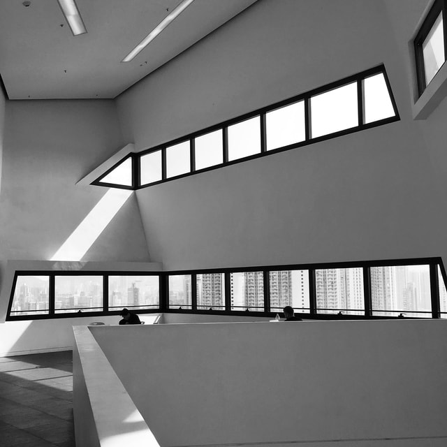 architecture-monochrome-ceiling-window-building picture material