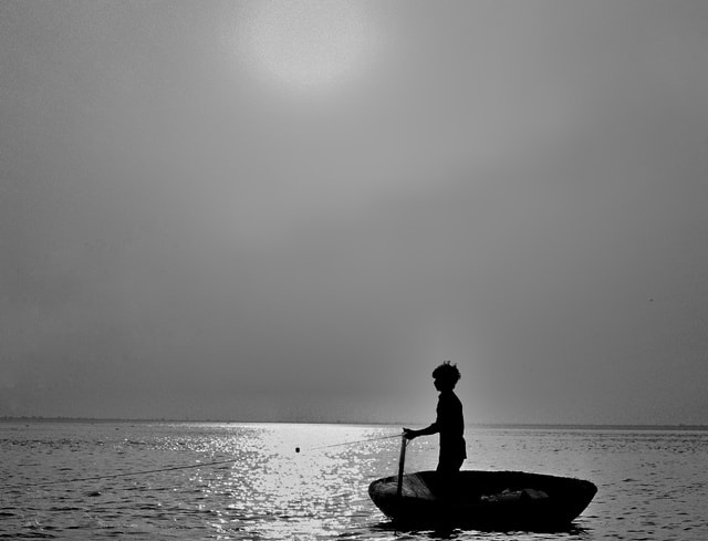 water-sea-ocean-monochrome-silhouette picture material