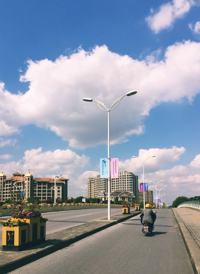 sky-road-city-building-downtown picture material