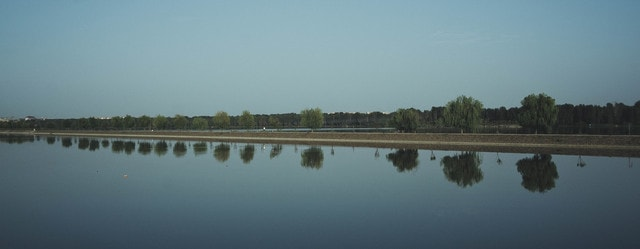 reflection-water-sky-lake-reservoir picture material