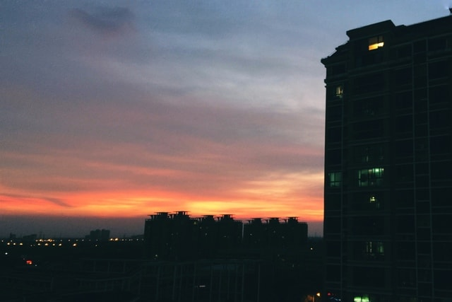 sky-sunset-dawn-dusk-evening picture material