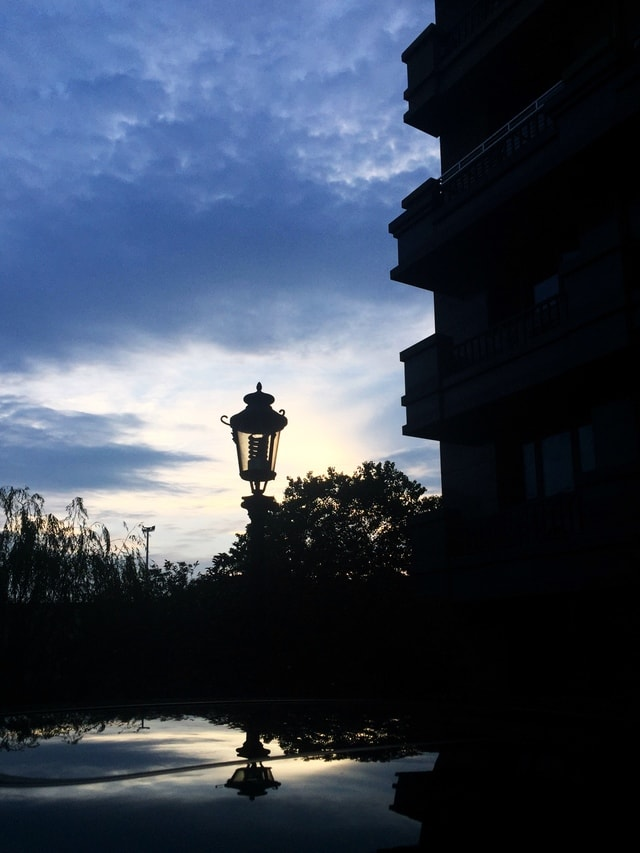 sky-reflection-water-dawn-evening picture material