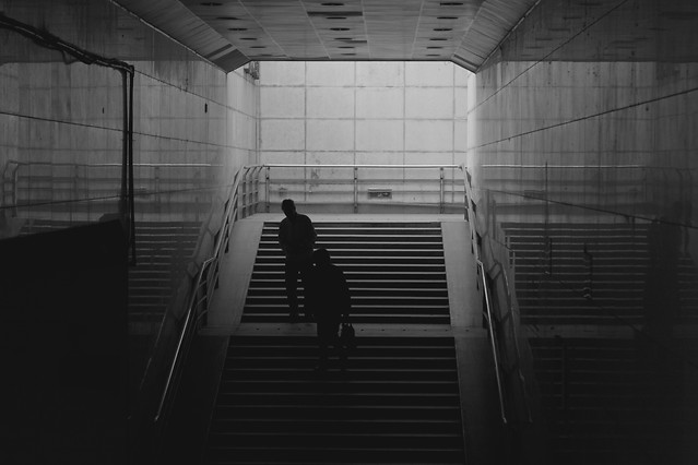 monochrome-people-indoors-light-window picture material