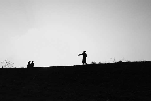 landscape-people-sky-silhouette-backlit picture material