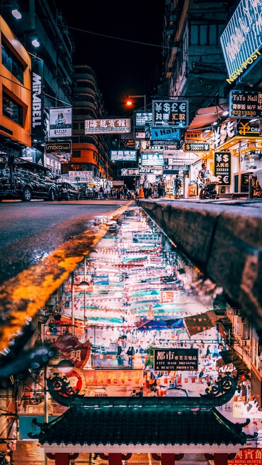 city-hong-kong-street-travel-urban picture material