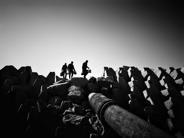 crowd-monochrome-silhouette-people-group-together picture material