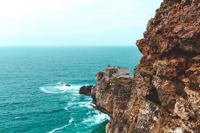 sea-cliff-rock-sky-ocean picture material