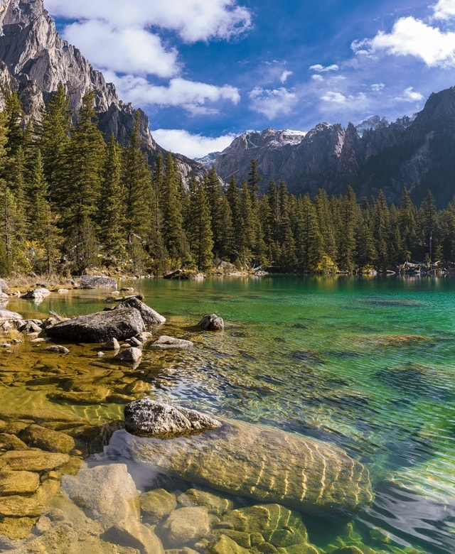 nature-water-lake-mountain-reflection picture material
