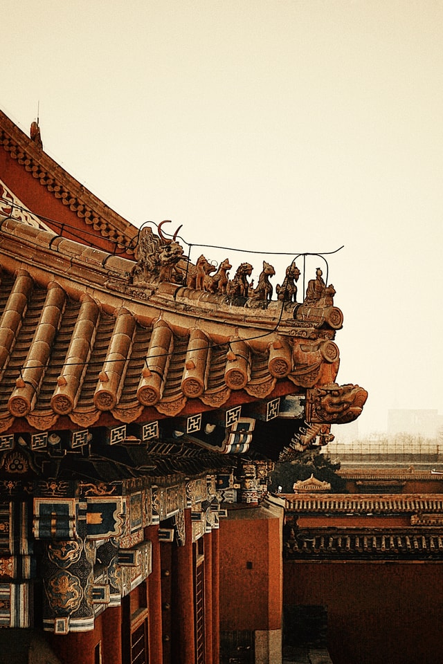 temple-chinese-architecture-landmark-sky-building picture material