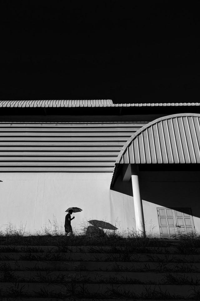 black-and-white-sky-architecture-monochrome-light picture material