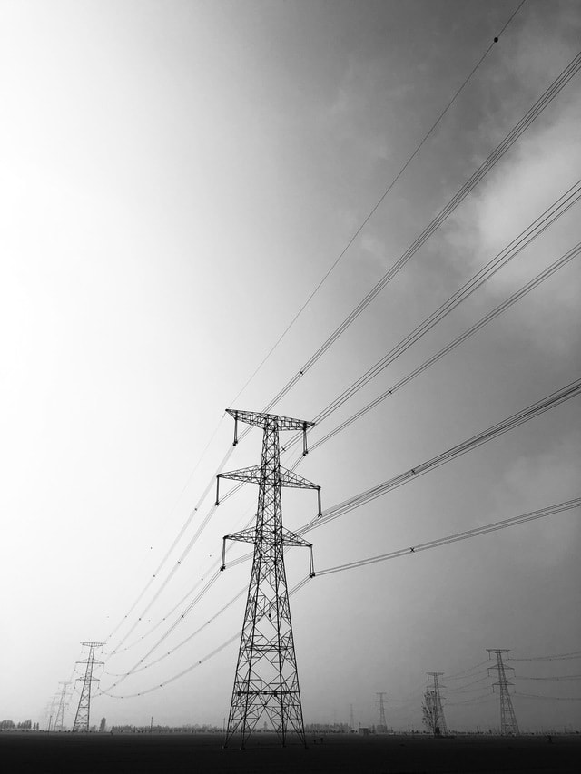 electricity-sky-line-energy-tower picture material