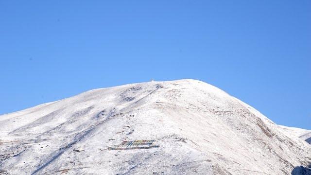 mountain-sky-winter-snow-hill 图片素材