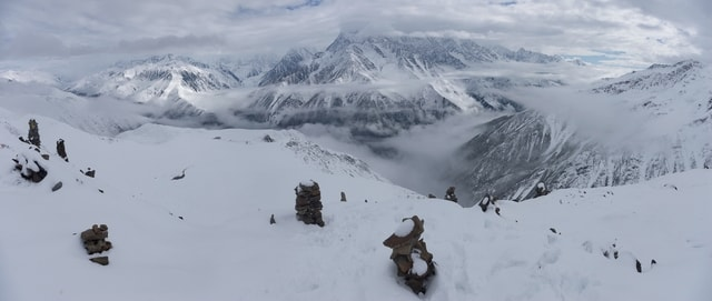 snow-mountain-winter-adventure-glacier picture material