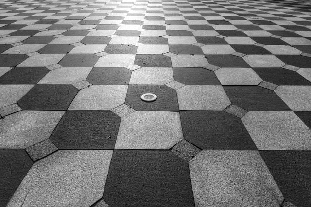 monochrome-pattern-floor-no-person-square picture material