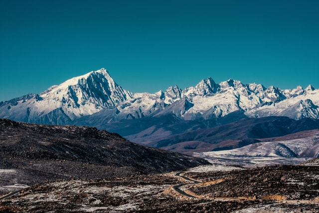 mountain-sky-snow-winter-landscape picture material
