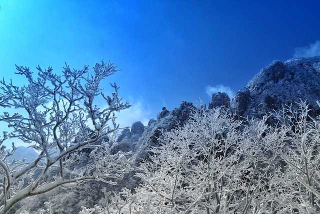 huangshan-winter-scene picture material