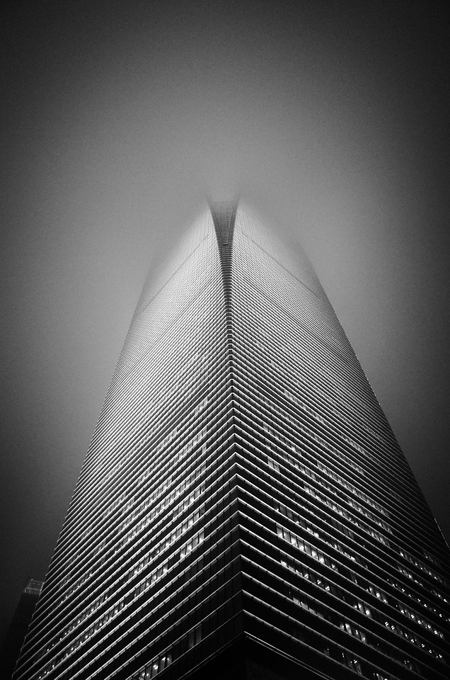 monochrome-city-black-white-skyscraper-black picture material