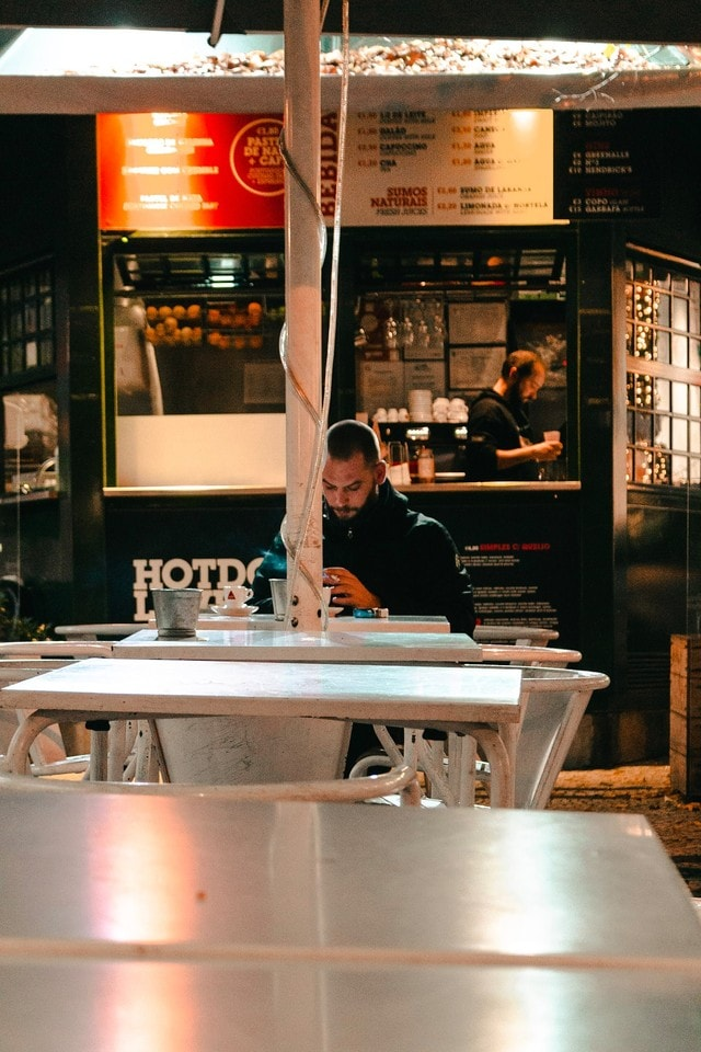 restaurant-table-food-winter-lonely 图片素材