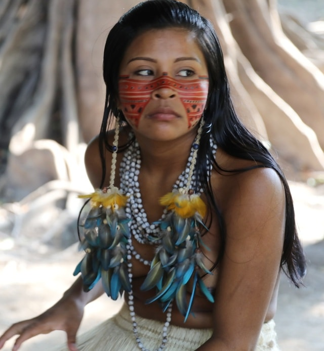 tribe-black-hair-neck-sunglasses picture material