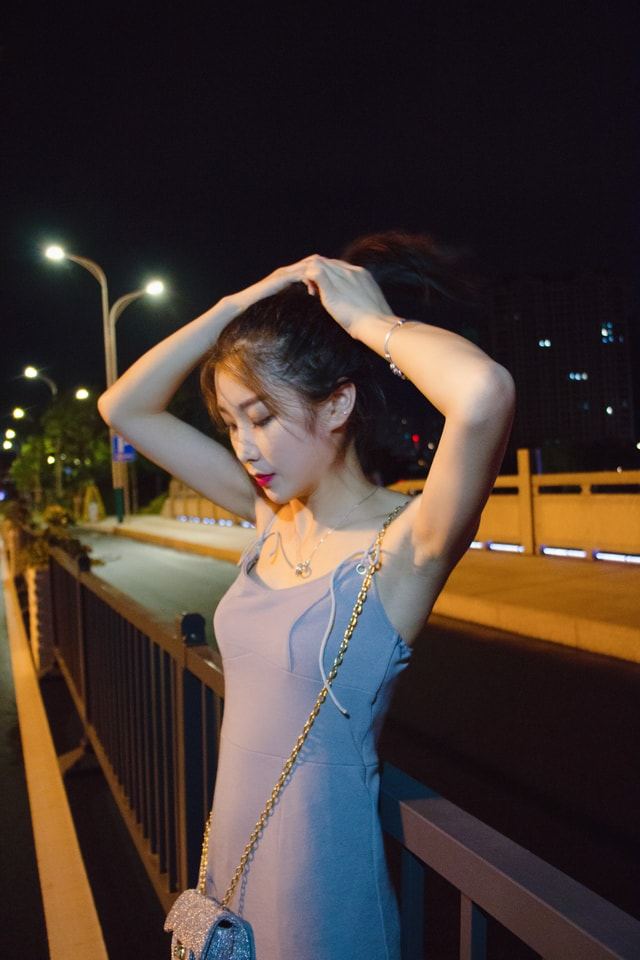 beauty-girl-lady-dress-shoulder picture material