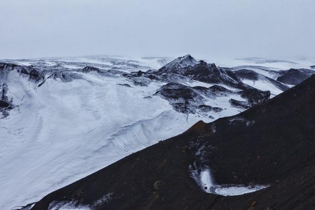 antarctic-peninsula-ridge-nunatak-mountainous-landforms-mountain picture material