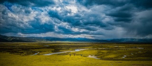 world-sky-ecosystem-grassland-highland picture material