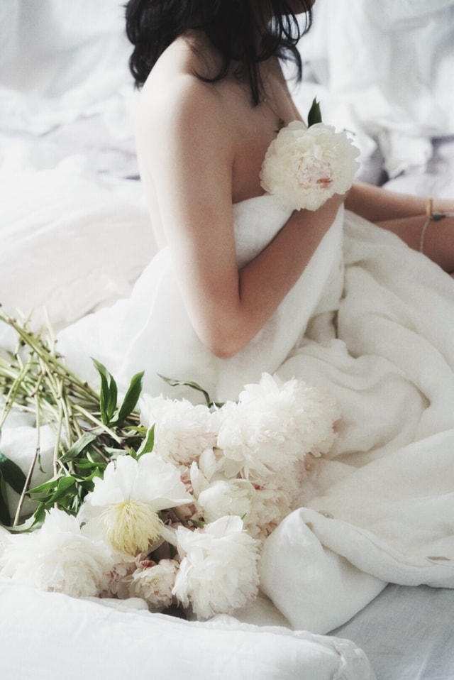 portrait-flower-gown-bridal-clothing-wedding-dress picture material