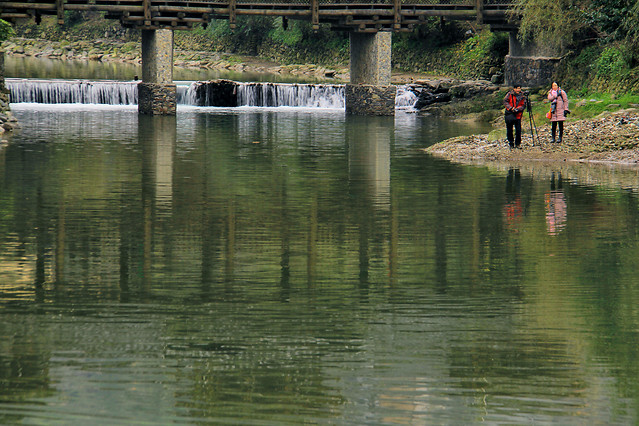 water-river-bridge-reflection-lake 图片素材